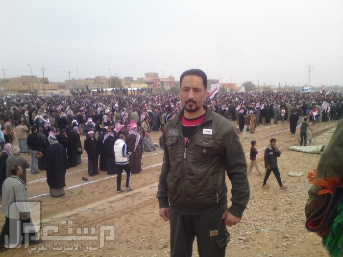 مظاهرات اهل السنه في الانبار مدينة الفلوجة احد الابطال المرابطين في الاعتصام