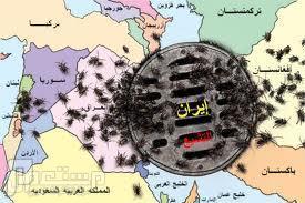 هل العراق جسر للعبور الى الدول الاخرى لولا اهل السنة شكل توضيحي لتواجد عملاء وانشاطات ايران