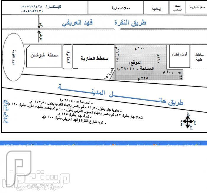 أرض للبيع بحائل ( بحي النقرة ) على طريق فهد العريفي