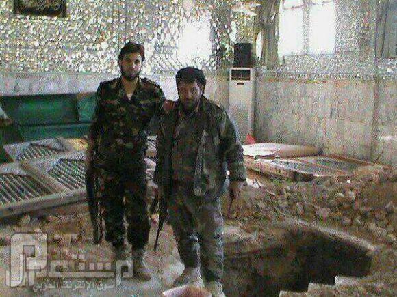 """بالصور.. شبيحة الأسد ينبشون قبر الصحابي """"حُجْر بْن عَدِيٍّ"""