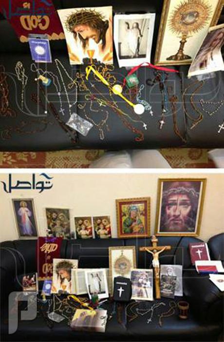 الهيئة تداهم إستراحة أعدت لـ طقوس منافية للإسلام وتضبط عدد من الصلبان وتماث
