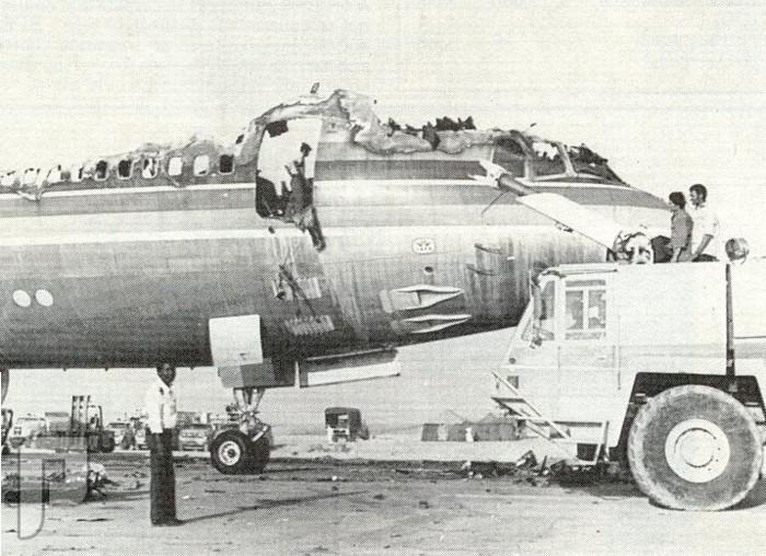 احتراق طائره الترايستار بمطار الرياض عام 1400