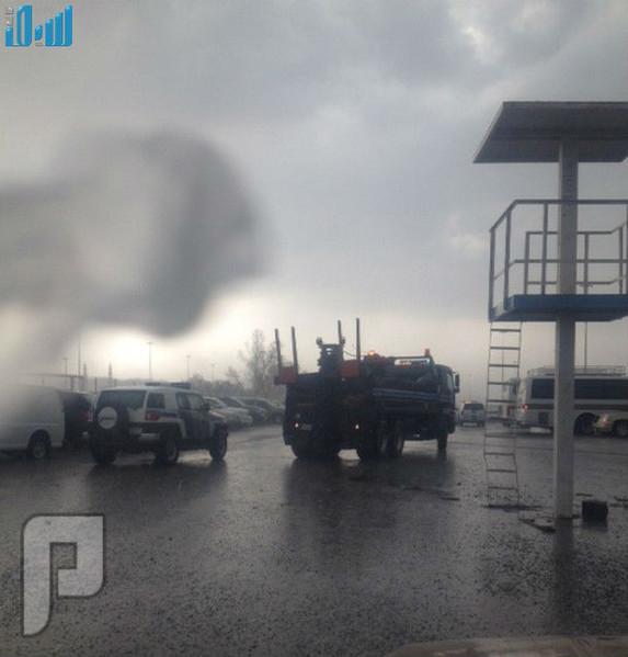 أمطار غزيرة على العاصمة المقدسة مصحوبة برعد وبرق
