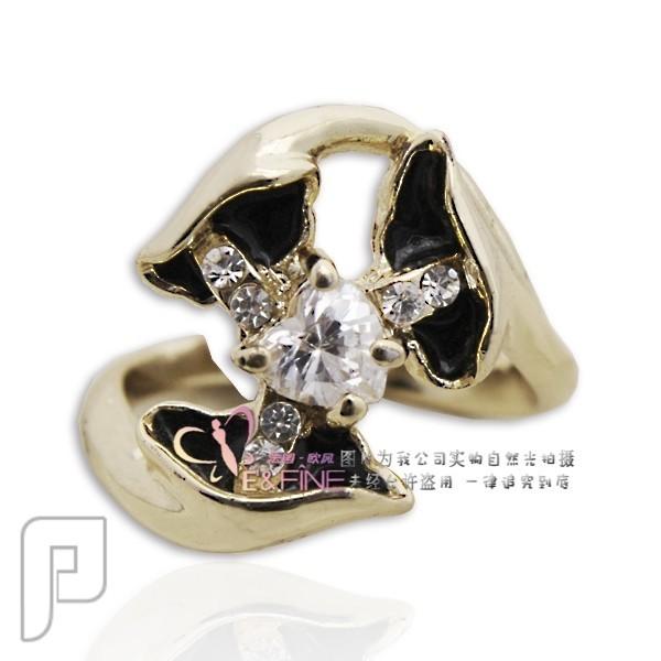 تشكيلة مجوهرات رقم 1 : خواتم , بروشات , أساور , سلاسل , كوليهات خاتم تحفة أسود اللون ماركة EFine السعر 99 ريال