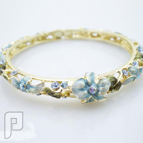 تشكيلة مجوهرات رقم 2 : هدايا و اساور و خواتم نسائية أسورة رائعة وشيك اللون أزرق ماركة EFine السعر 175 ريال .