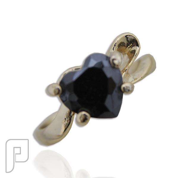 تشكيلة مجوهرات رقم 2 : هدايا و اساور و خواتم نسائية خاتم القلب المحب اللون أسود السعر 75 ريال