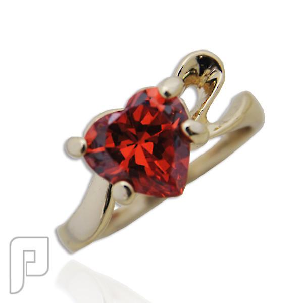 تشكيلة مجوهرات رقم 2 : هدايا و اساور و خواتم نسائية خاتم القلب المحب اللون أحمر السعر 75 ريال