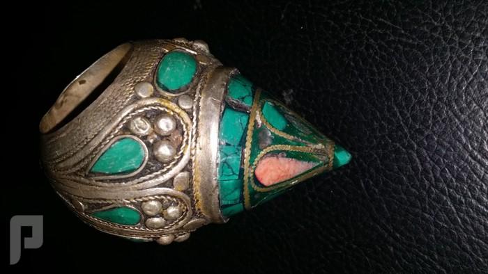 مجموعة من الخواتم والاختام الايرانية التراثية  من الفضة والعقيق البند 2