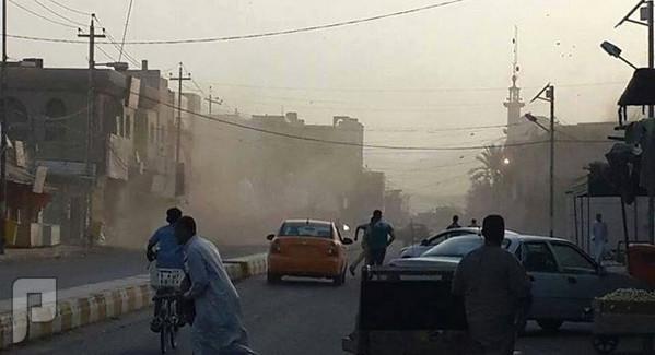 لحضة قصف مدينة الفلوجة بالصور بالبراميل والصواريخ شارع الفلوجة التجاري