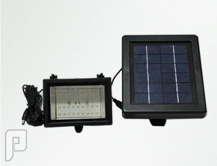 كشافات لإضاءت الحدائق بالطاقة الشمسية يتكون من وحدتين منفصلتين