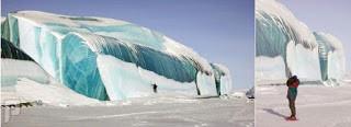اغرب ظاهرة طبيعية . تجمد موجة ضخمة من الماء