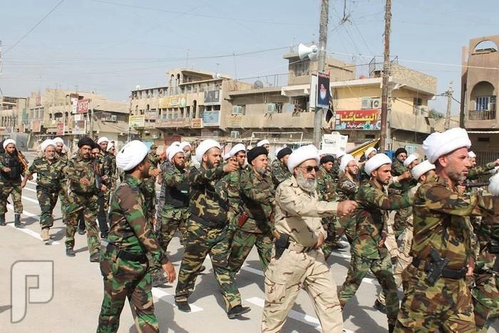 استعراض جيش المهدي ببغداد وخوفهم من زحف الثوار