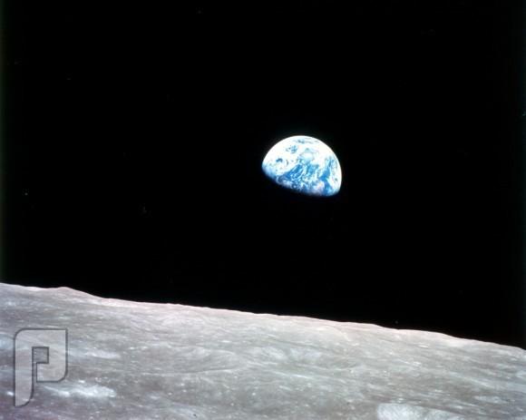 صور لن تمحى من الذاكرة ، هي أول صورة واضحة يتم التقاطها للأرض من على سطح القمر