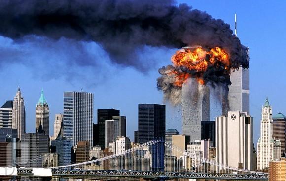 صور لن تمحى من الذاكرة ، صورة برجي التجارة المحترقين