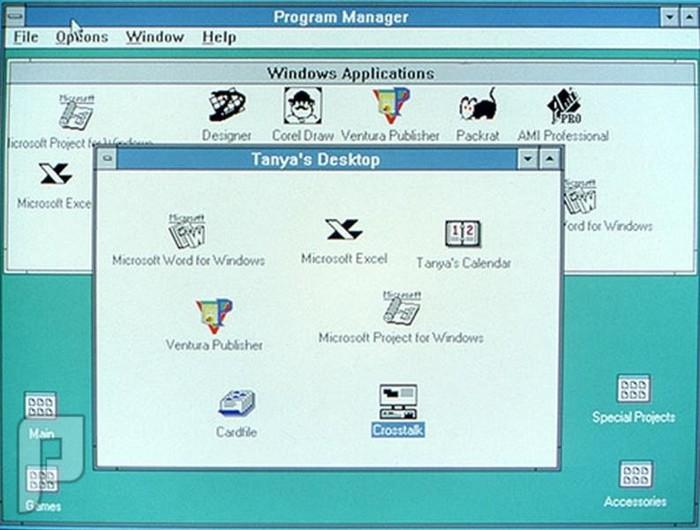اصدارات وندوز والصراع بين شركات نظام أندرويد وأبل ويندوز 3.0 (1990)