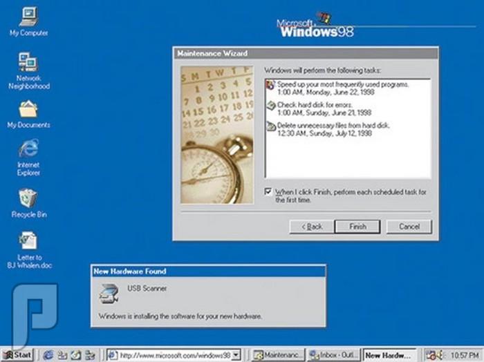 اصدارات وندوز والصراع بين شركات نظام أندرويد وأبل ويندوز 98 (1998)