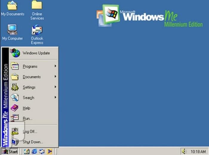 اصدارات وندوز والصراع بين شركات نظام أندرويد وأبل ويندوز ME: صدر عام 2000