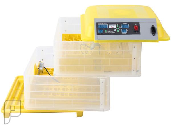 جهاز تفقيس بيض الطيور الأتوماتيكي الذي يسع ل 96 بيضة ويعمل بالكهرباء الجهاز مفكك