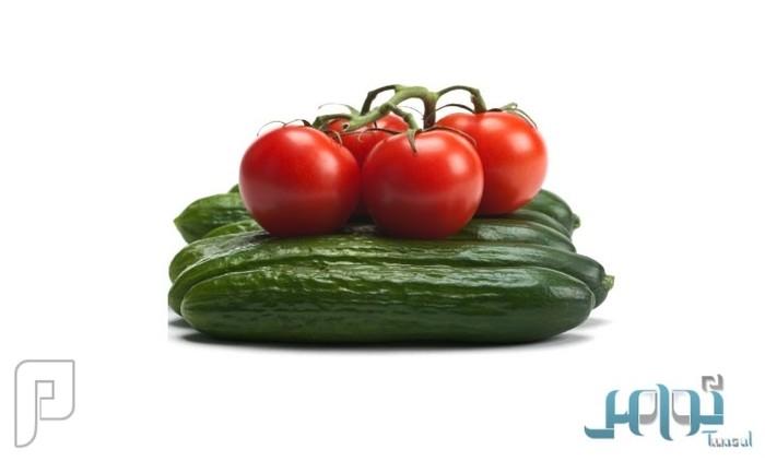 طريقة فعَّالة للتحكم في الوزن الزائد بالخيار والطماطم