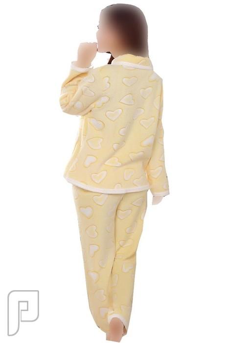 بيجامات نسائية شتوية مصنوعة من الموهير الناعم بيجامة نسائية مبطنة تتكون من قطعتين Jak0213-1 ذات سعر 199 ريال