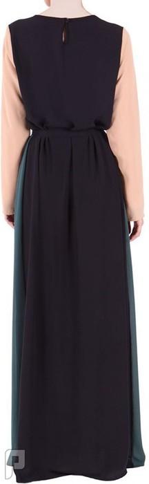 فساتين نسائية طويلة محتشمة بأنواع مختلفة فستان نسائى طويل محتشم سعرة 320 ريال رقم (5)