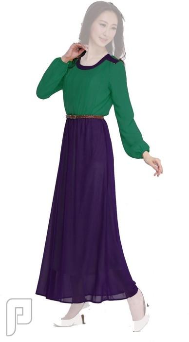 فساتين نسائية طويلة محتشمة بأنواع مختلفة فستان نسائى طويل ومحتشم سعرة 320 ريال رقم (6)