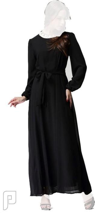 فساتين نسائية طويلة بأنواع مختلفة فستان نسائى طويل محتشم السعر 310 رقم (5)