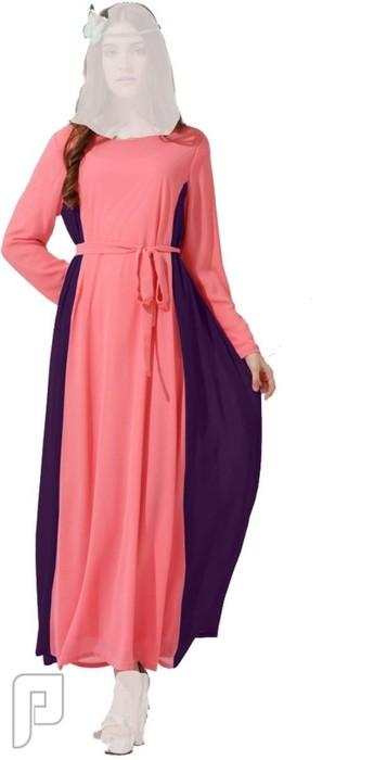 فساتين نسائية طويلة بأنواع مختلفة فستان نسائى طويل محتشم السعر 310 ريال رقم (6)
