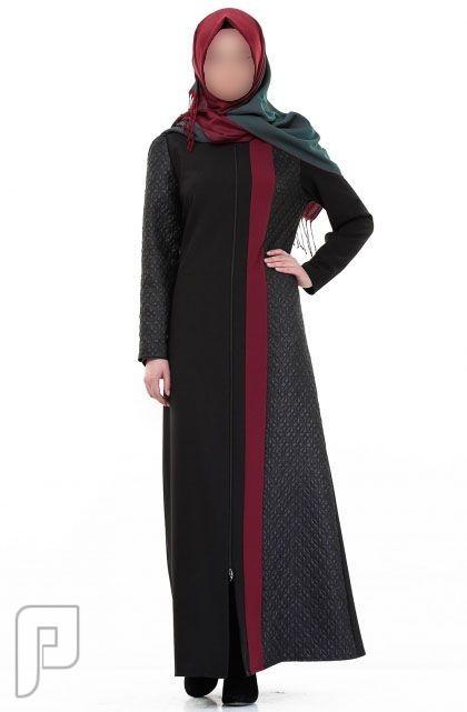 ملابس نسائية تركية الأعلان الأول ثوب نسائي أسود اللون بنقش جانبي مصنع من قماش الفيسكوز مقاس 42 (رقم 2) السعر 475