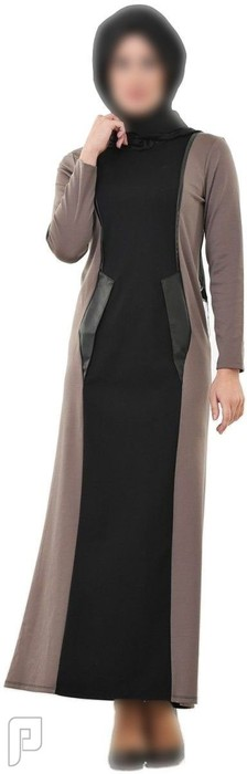 ملابس نسائية تركية الأعلان الأول ثوب محتشم لون أسود وبني مقاس 36 (رقم 3) السعر 325