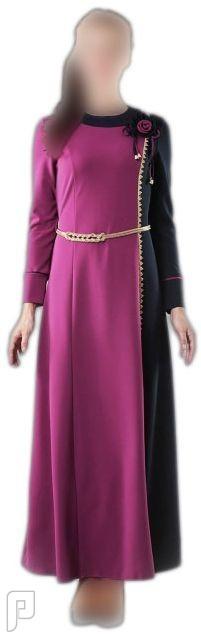ملابس نسائية تركية الأعلان الأول ثوب نسائي أرجواني بزركشة جانبية مصنع من قماش الكريب مقاس 42 (رقم 4) السعر325