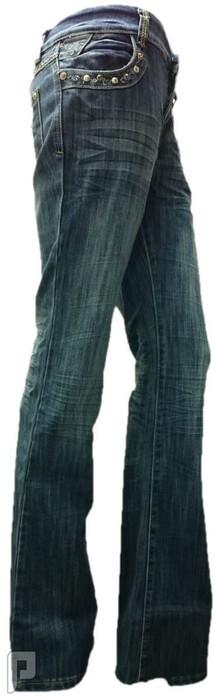 بناطيل جينز نسائية الأعلان الرابع بنطلون جينز نسائي ذات مقاس EU 31 ذو لون أزرق رقم (2)  السعر 199