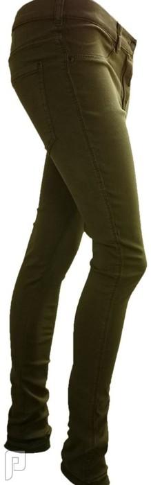 بناطيل جينز نسائية الأعلان الرابع بنطلون جينز نسائي ذو مقاس L ولونه بيج رقم (4) السعر 199