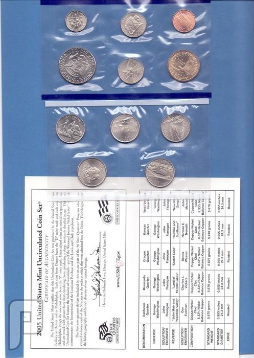 مجموعات المنت الامريكية للسنوات 2004-2005