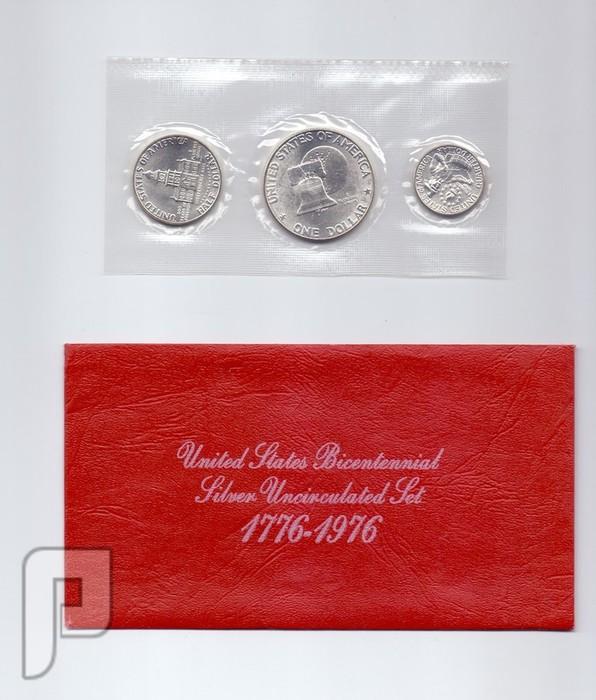مجموعه المئتين الامريكية يمناسبة مرور 200 عام على استقلال الولايات المتحدة بدون ال 2 دولار ورقي