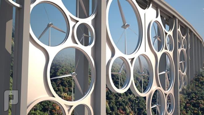 طاقة الرياح على الجسور