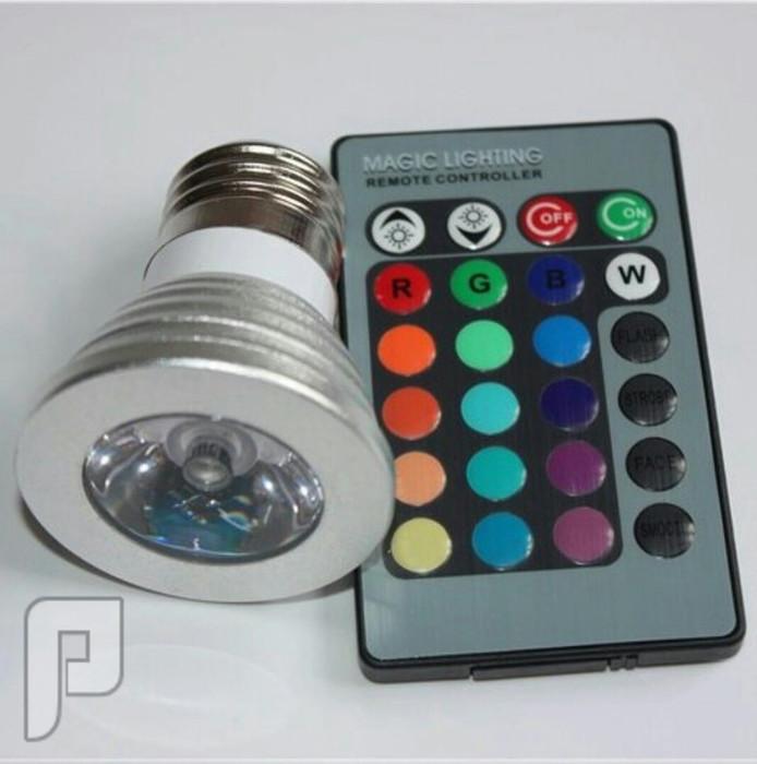 إضاءة E27 LED 16 Color