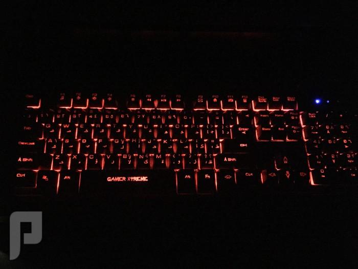 لوحة مفاتيح العاب ميكانيكال كيبورد مع اضائة خلفية ، اسود