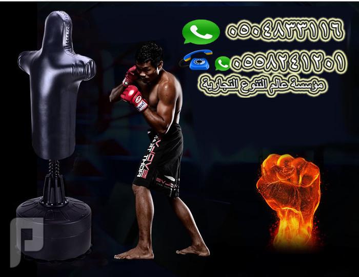 مجسم تدريب يماثل جسم الإنسان لتدريب الألعاب القتالية مجسم تدريب منزلى السعر : 1999 ريال فقط .