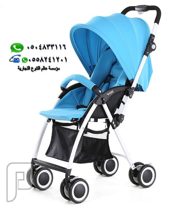 عربة أطفال خفيفة الوزن 4.5 كيلو جرام , بأربع عجلات ماركة VOV العالمية