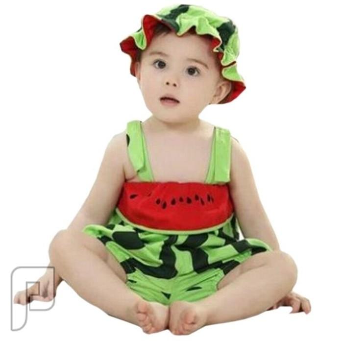 ملابس تنكرية بأشكال جميله محببه للأطفال من 3-6 شهور ملابس اطفال على شكل بطيخة السعر 60 ريال