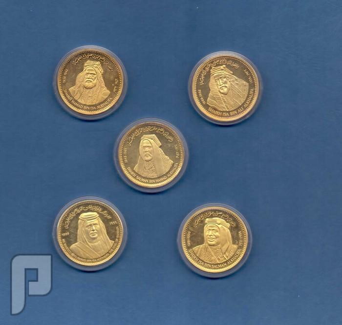 مجموعة تذكارات البحرين من الفضه داخل علبه مخمليه فخمه
