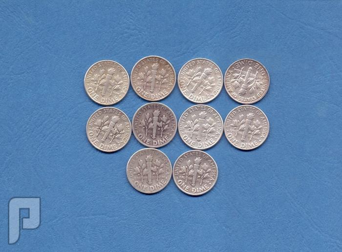 ديم- ربع دولار -نصف دولار -دولارات امريكيه-سنوات ومجموعات