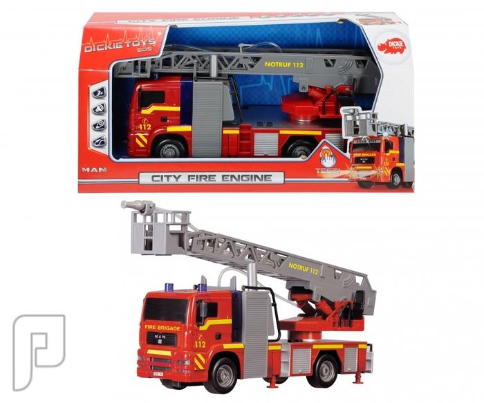 سيارة اطفاء مع إنارة وصوت و مضخة ماء