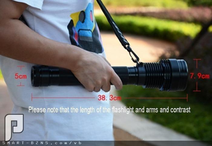 الكشاف اليدوي الخارق زنون HID بقوة 8900 لومن الأقوى من فينيكس 1170ريال حجم الكشاف: (الطول 38.3, قطر العدسة 7.9, العرض 5) سم.