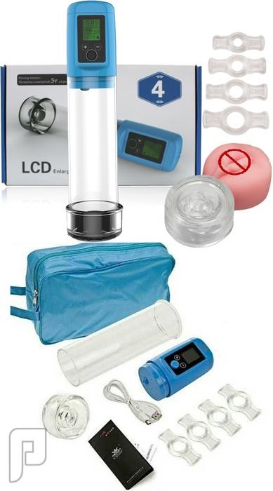 جهاز LCD الألكتروني الديجتال لعلاج الضعف الجنسي وتكبير وتطويل القضيب550ريال ملحقات علبة جهاز LCD.