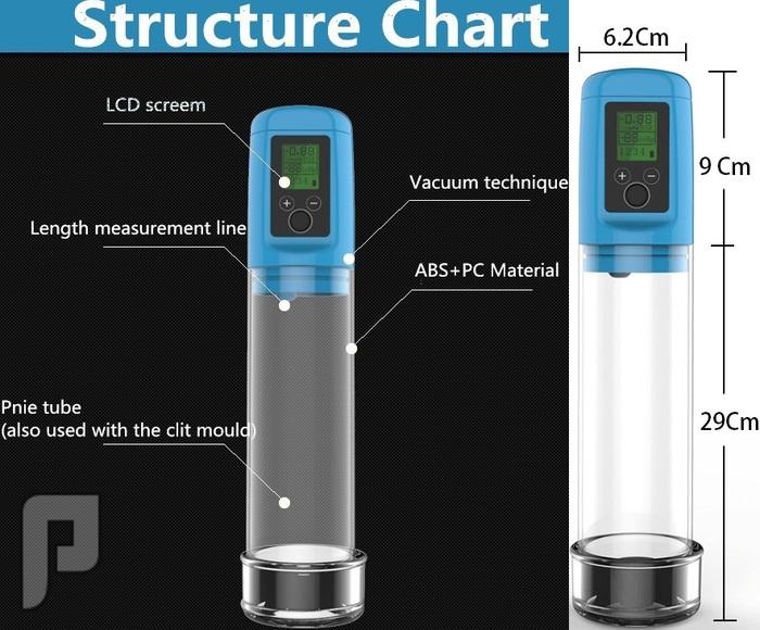 جهاز LCD الألكتروني الديجتال لعلاج الضعف الجنسي وتكبير وتطويل القضيب550ريال أبعاد وحجم الجهاز.