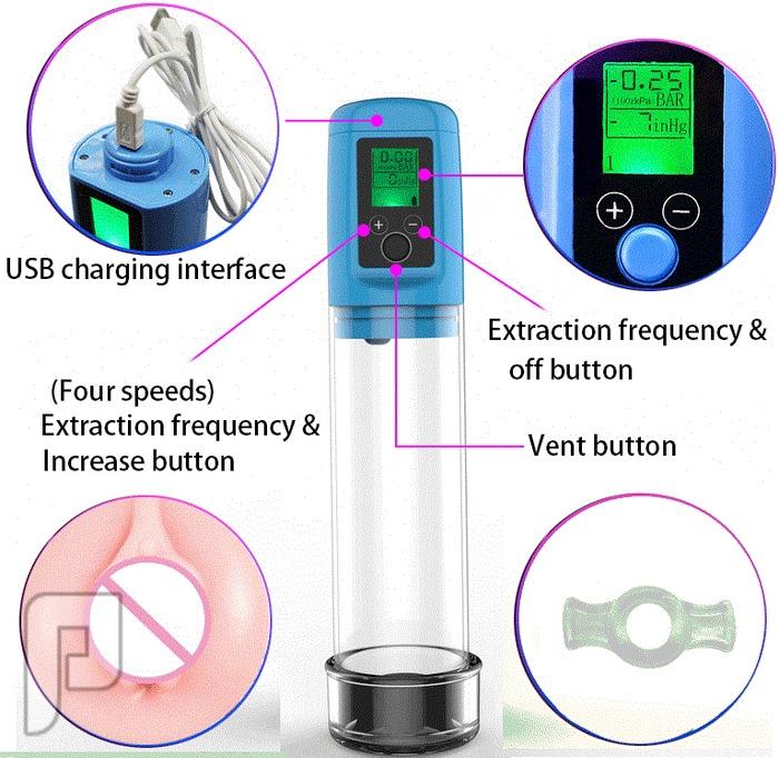 جهاز LCD الألكتروني الديجتال لعلاج الضعف الجنسي وتكبير وتطويل القضيب550ريال