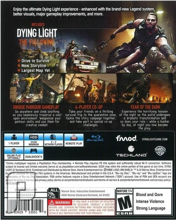 لعبة Dying Light Enhanced Edition PS4 داينق لايت 2 إصدار خاص بكامل الإضافات إصدار خاص كامل (الإضافات, والمابات, والمودات).