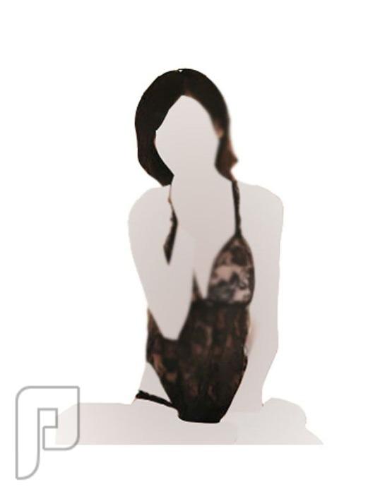 مجموعه جديدة من اللانجرى لعشاق التميز 8- لانجري على شكل قميص نوم مصنوع من الشيفون الشفاف ذو لون أسود.